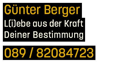 Günter Berger - Leben-Bestimmung | Spüren-Sein